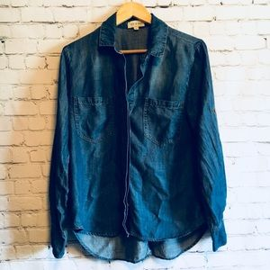 Cloth and stone chambray split back